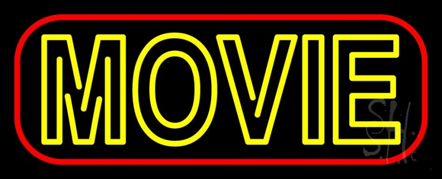 Double Stroke Movie Neon Sign