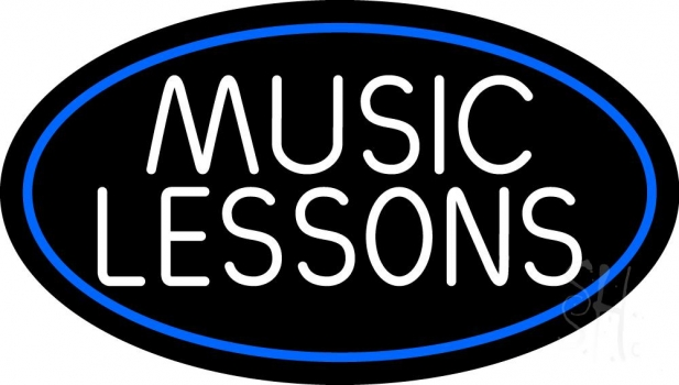 Music Lessons 2 Neon Sign