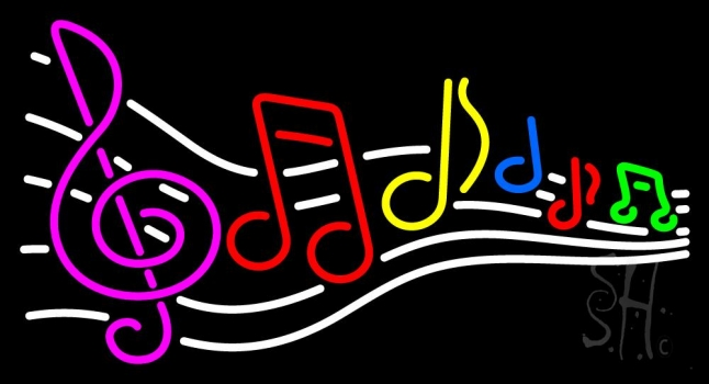 Music Notes 1 Neon Sign
