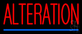 Red Alteration Blue Underline Neon Sign