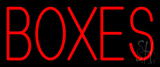 Red Boxes Block Neon Sign