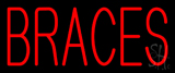 Red Braces Neon Sign