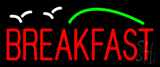 Breakfast with Birds Neon Sign