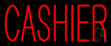 Red Cashier Neon Sign
