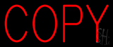 Red Copy Neon Sign