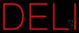 Red Deli Neon Sign
