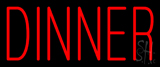 Red Dinner Neon Sign