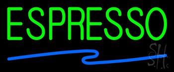 Green Espresso Blue Line Neon Sign