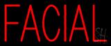 Red Block Facial Neon Sign