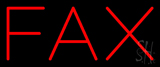 Red Fax Neon Sign