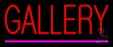 Red Gallery Purple Line Neon Sign