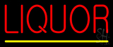 Red Liquor Yellow Line Neon Sign