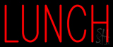 Red Lunch Neon Sign