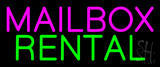 Pink Mailbox Green Rental Block Neon Sign