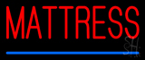 Red Mattress Blue Line Neon Sign