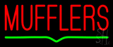 Red Mufflers Green Line LED Neon Sign