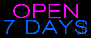 Open 7 Days Neon Sign
