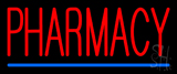 Red Pharmacy Blue Line LED Neon Sign