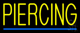 Yellow Piercing Blue Line LED Neon Sign