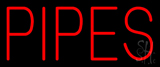 Red Pipes Neon Sign