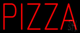Simple Red Pizza Neon Sign