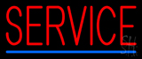 Red Service Blue Line LED Neon Sign