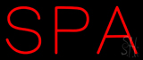 Red Spa Neon Sign