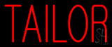 Red Block Tailor Neon Sign