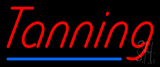 Red Tanning Blue Line Neon Sign
