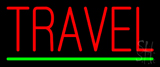 Red Travel Green Line LED Neon Sign