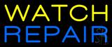 Yellow Watch Repair Neon Sign