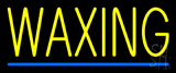 Yellow Waxing Blue Line Neon Sign