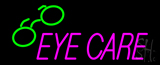 Pink Eye Care Logo Neon Sign