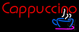 Red Cappuccino Cup Neon Sign