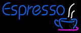Blue Espresso Logo Neon Sign