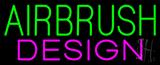 Green Airbrush Design Neon Sign