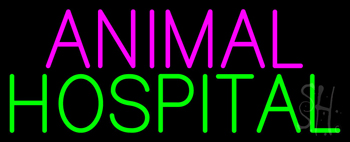 Purple Animal Green Hospital Neon Sign