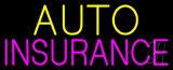 Yellow Auto Pink Insurance Neon Sign