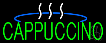 Green Cappuccino Logo Neon Sign