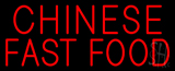 Red Chinese Fast Food Neon Sign