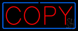 Red Copy Blue Border Neon Sign