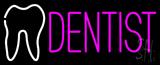 Pink Dentist Logo Neon Sign