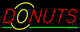 Red Donuts Logo Neon Sign