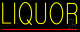 Yellow Liquor Red Line Neon Sign