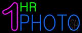 1 Hr Photo Block Neon Sign