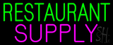 GreenRestaurant Pink Supply Neon Sign