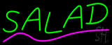 Green Salad with Pink Line Neon Sign