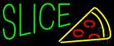 Green Slice Logo Neon Sign