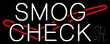 Smog Check Logo Neon Sign