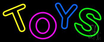 Multicolored Double Stroke Toys Neon Sign
